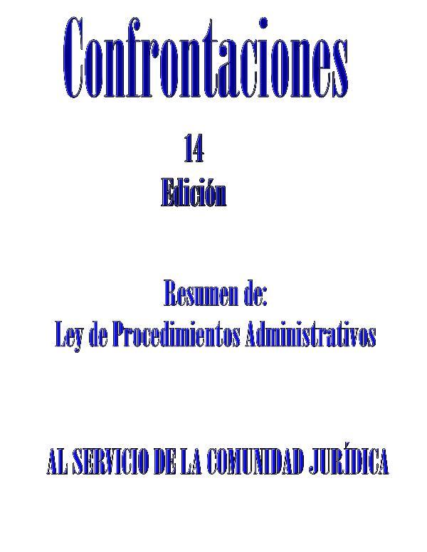 XIV EDICION CONFRONTACIONES 14