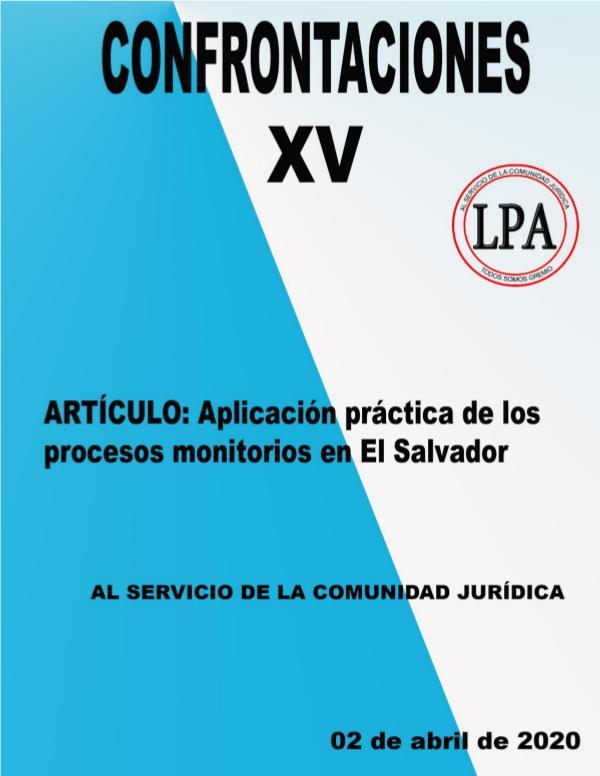 REVISTA JURÍDICA XV EDICION CONFRONTACIONES