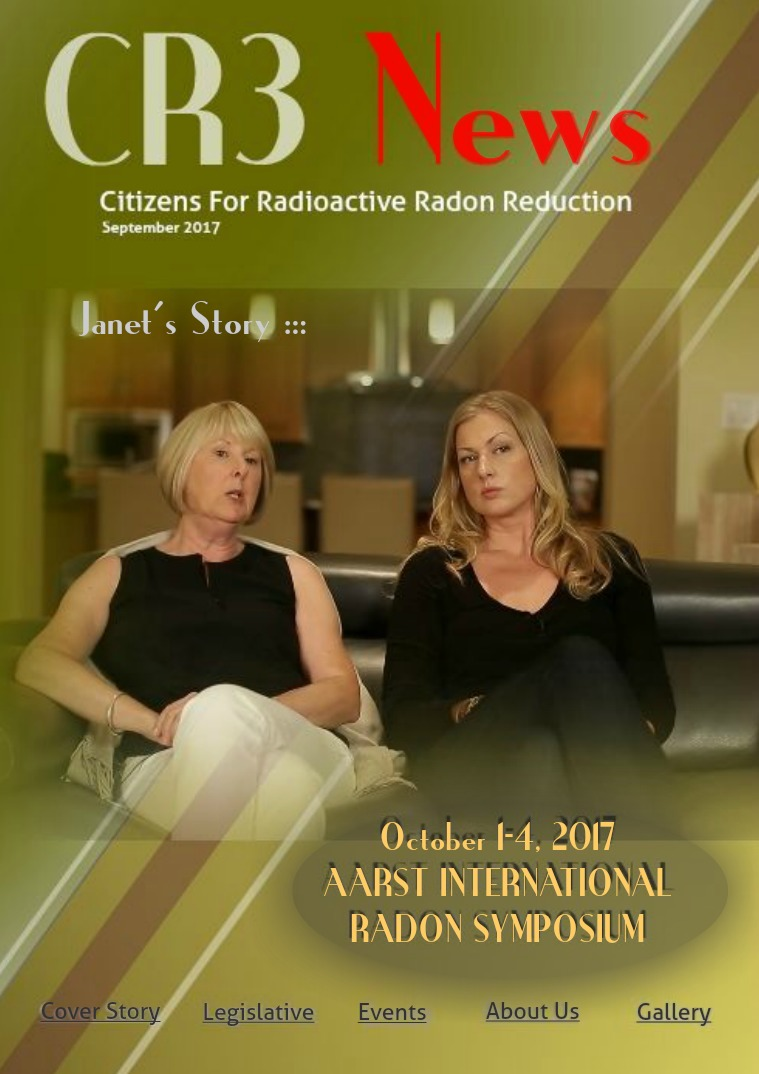 CR3 News Magazine 2017 VOL 4: SEPTEMBER  Radon Resolutions