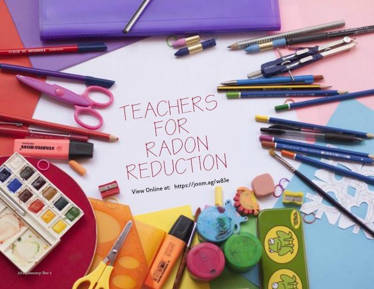 Teachers for Radon Reduction
