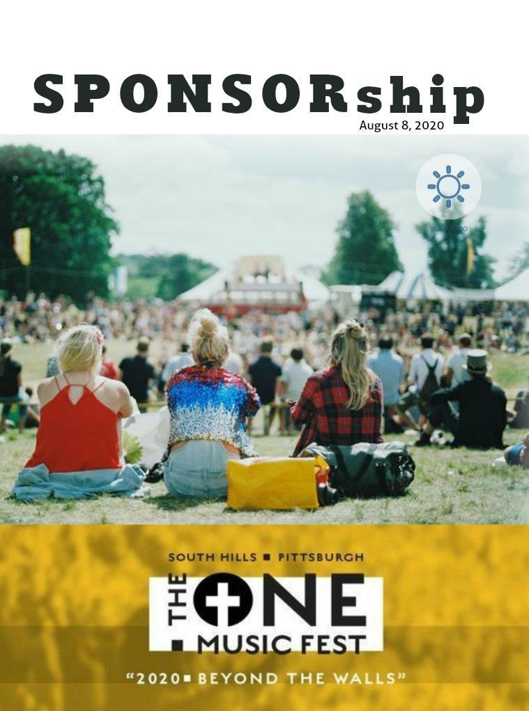 The One Music Fest August 8, 2020: Sponsorship Pkg