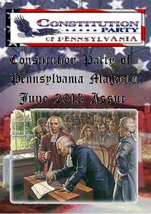 Constitution Party of Pennsylvania Magazine