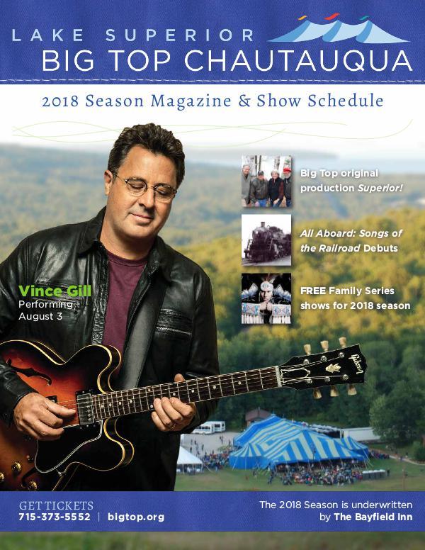 Season Program | Big Top Chautauqua 2018