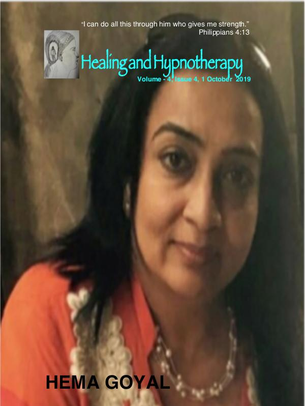 Healing and Hypnotherapy Volume 4 Issue - 4, 1 October 2019