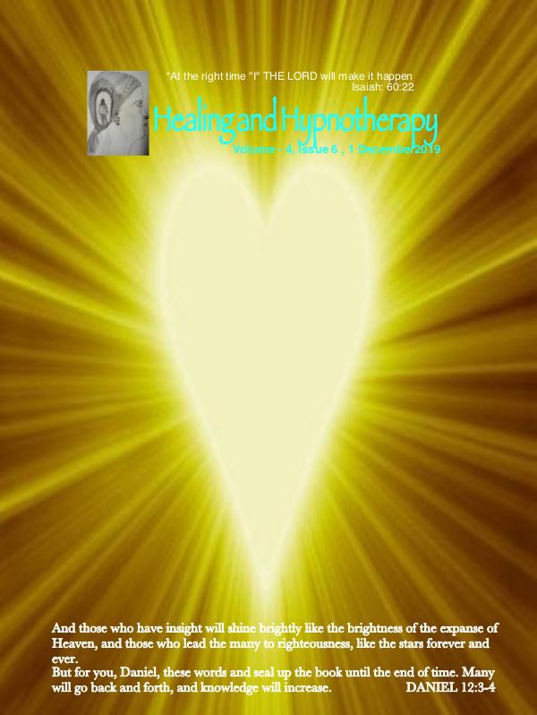 Healing and Hypnotherapy Volume 4 Issue - 6, 1 December 2019