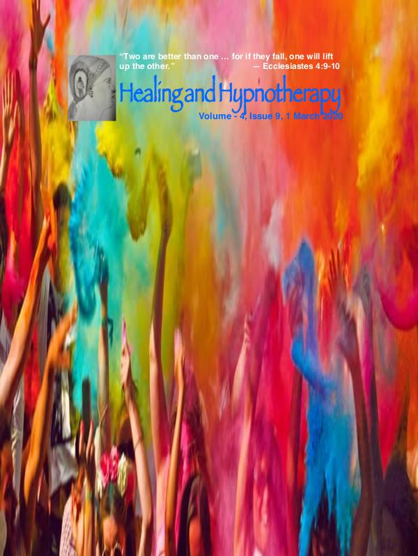 Healing and Hypnotherapy Volume - 4, issue 9 1 March 2020