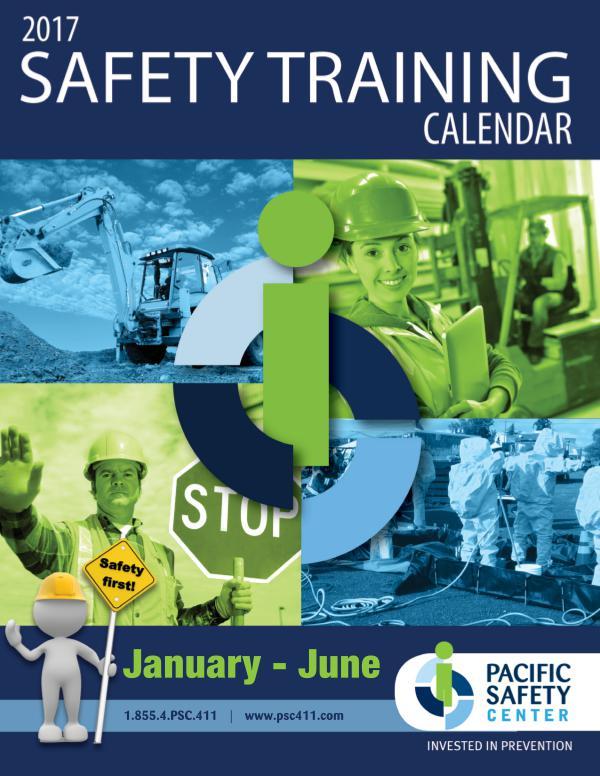 Pacific Safety Training Calendar Jul-Dec 2016 volume 1 2017