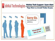 Tips How to Avoid Ticket Scams - Nishkul Tech Support Scam Alert