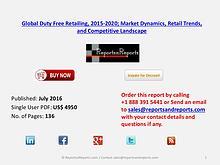 Duty Free Retailing Market 2015 – 2020 Share of Each Region in Global
