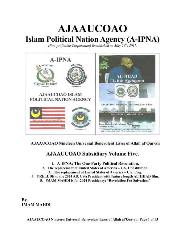 AJAAUCOAO Subsidiary Volume Five