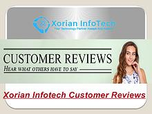 Xorian Infotech Customer Reviews