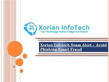 Xorian Infotech Scam Alert -  Avoid Phishing Email Fraud