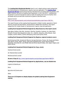 Loading Dock Equipment Market Worldwide Analysis and 2022 Forecasts