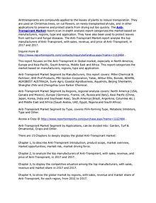 Worldwide Anti-Transpirant Market 2017 Analysis and Forecasts to 2022