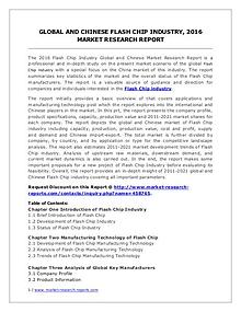 Flash Chip Market Development Trends, Demands and Forecasts 2021