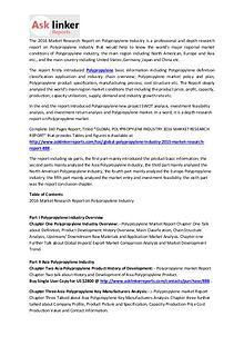 Polypropylene Market Development Analysis and Industry Forecasts 2020