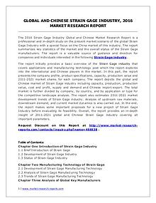 Global Strain Gage Market Analysis and Industry Forecasts to 2020