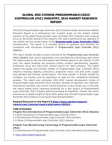 Programmable Logic Controller Market Analysis and Forecsats to 2020