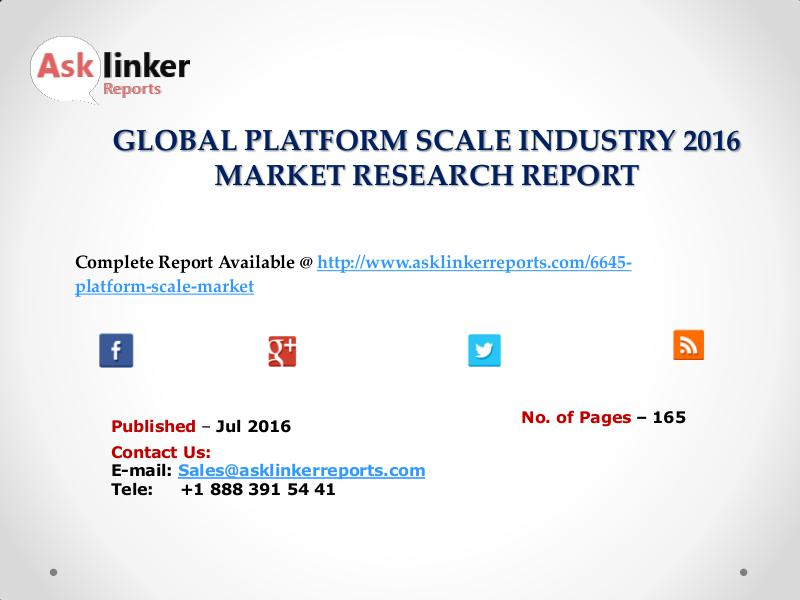 Platform Scale Market Production and Industry share Forecasts to 2020 Jul. 2016