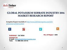 Potassium Sorbate Market Share, Policy, Plan and Forecasts to 2020
