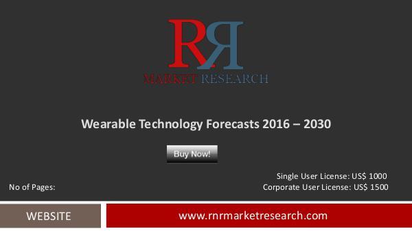 Wearable Technology Market Forecasts 2030 Oct 2016