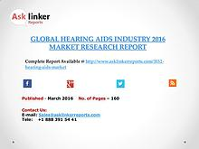 Hearing Aids Market Analysis and Forecasts New Research Report 2016