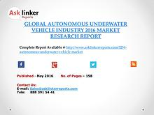 Global Autonomous Underwater Vehicle Market 2016-2020 Report