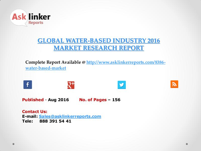 Water-Based Industry Key Companies Market Share in 2011 – 2016 Report Aug 2016