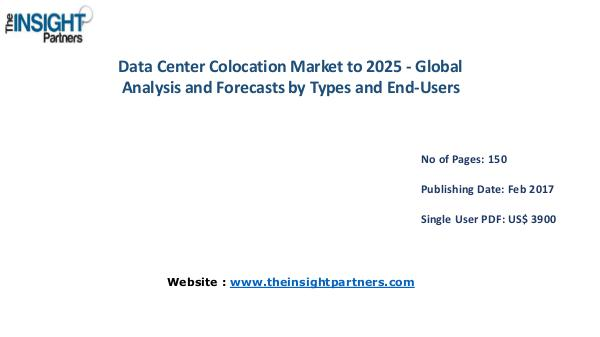 Data Center Colocation Industry Overview, Key Developments Data Center Colocation Industry Overview, Key Deve