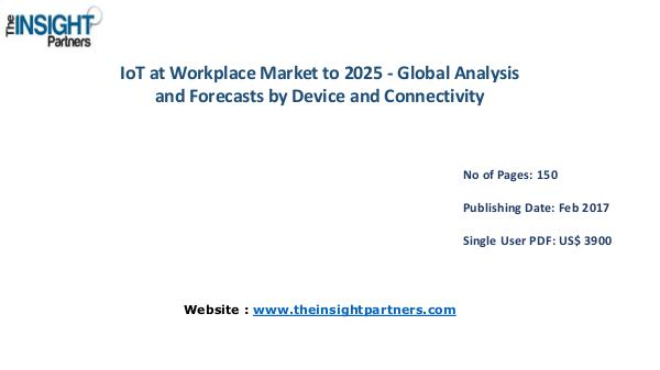 IoT at Workplace Industry Overview, Key Developments IoT at Workplace Industry Overview, Key Developmen