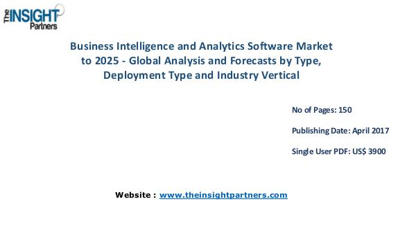 Business Intelligence and Analytics Software Market to 2025 Business Intelligence and Analytics Software Marke