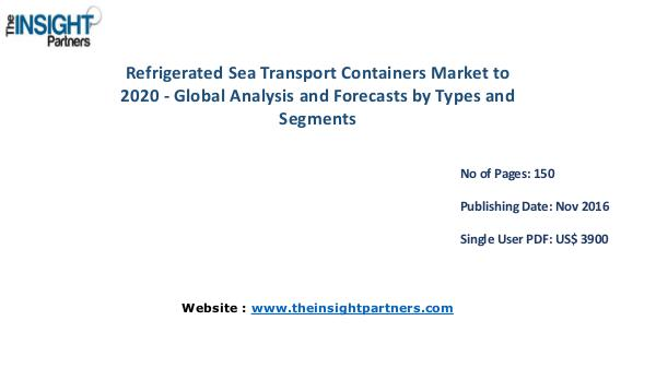 Refrigerated Sea Transport Containers Market Outlook 2020 Refrigerated Sea Transport Containers Market