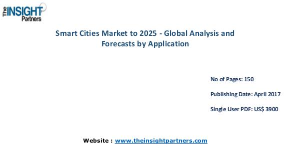 Smart Cities Market to 2025 Analysis & Trends by Application Smart Cities Market to 2025 Analysis & Trends