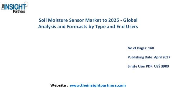 Soil Moisture Sensor Market is expected to reach US$ 288.3 Mn by 2025 Soil Moisture Sensor Market is expected to reach U