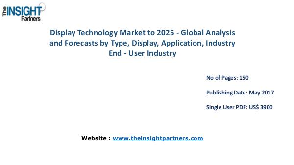 Display Technology Market Analysis & Trends - Forecast to 2025 Display Technology Market to 2025