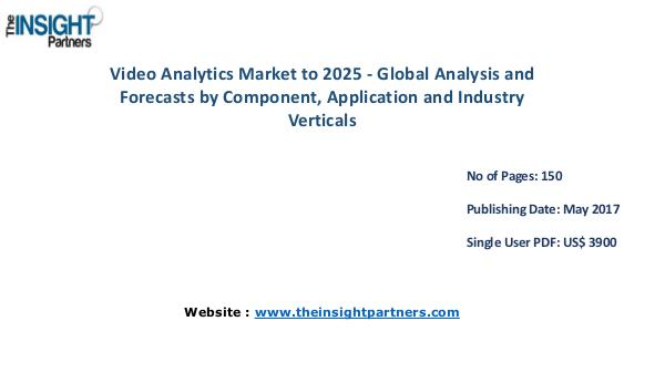 Video Analytics Market Analysis & Trends - Forecast to 2025 Global Video Analytics Market to 2025