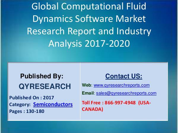 Research Report Global Computational Fluid Dynamics Software Sales