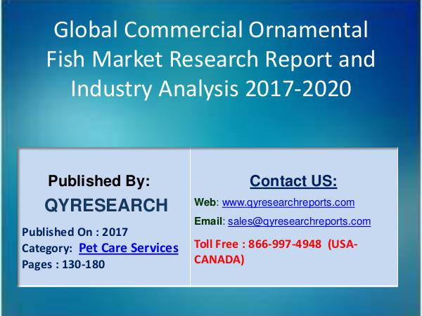 Research Report Global Commercial Ornamental Fish Industry