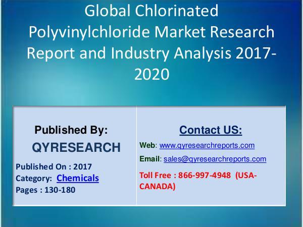 Chlorinated Polyvinylchloride (CPVC) Industry 2017