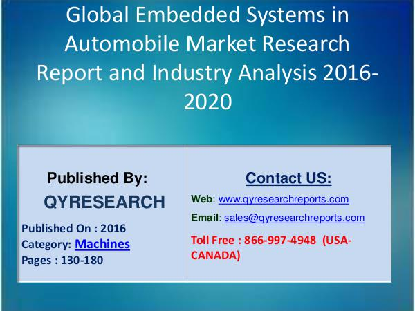 Global Embedded Systems in Automobile Production,