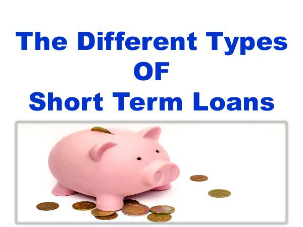 The Different Types of Short Term Loans 1