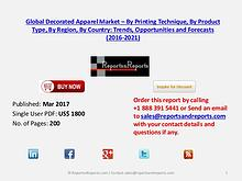 Decorated Apparel Market to Grow at CAGR of 10.92% during 2016 – 2021