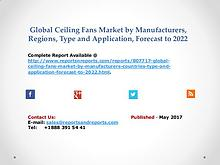 Global Ceiling Fans Market 2017-2022 Demand and Insights Analysis