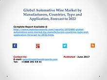 Automotive Wire Industry 2017 Global Market Outlook and Forecasts
