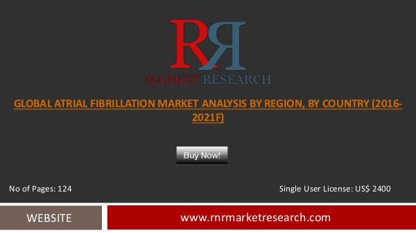 Atrial Fibrillation Market 2016 APAC Region to Witness Strong Growth Oct 2016