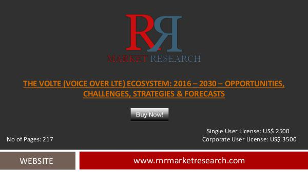 VoLTE Market 2016 Profiles and strategies of Leading Ecosystem Player Oct 2016