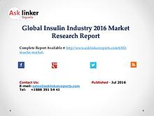 Global Insulin Market 2016 Product Specification and Cost Structure