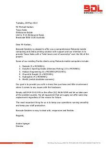 Tasco Sales - Motorola & Zebra Proposal from Barcode Datalink