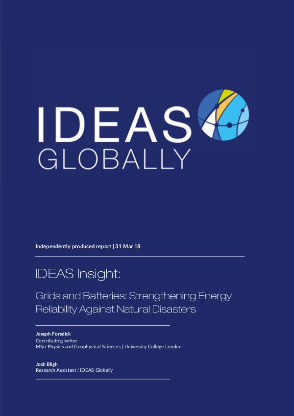 Strengthening Energy Reliability