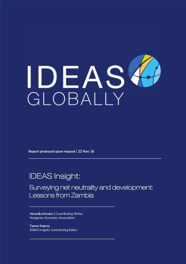 IDEAS Insights Net Neutrality & Development - lessons from Zambia